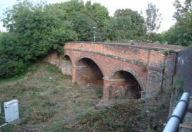The first bridge crossing the Severn Valley Railway in Shrewsbury