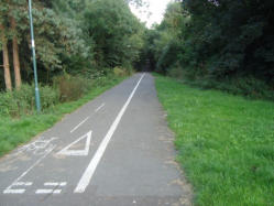 The line through East Shrewsbury, now a cycle track