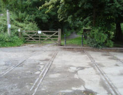 The track still in place in Ironbridge