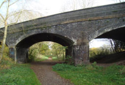 The road bridge at Haughton Station