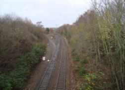 The track branches off the Shrewsbury to Wolverhampton Line