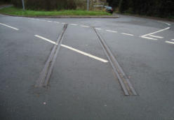 The track still in the road South of Doseley