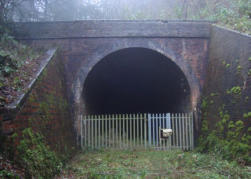 The South Tunnel entrance on Wenlock Edge