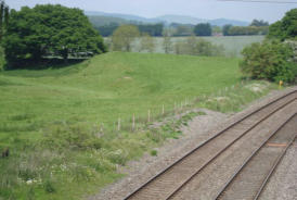 The start of the line on the left looking north near Craven Arms