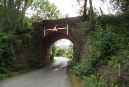 The first bridge at the start of the line near Bewdley