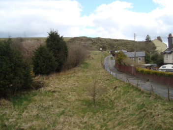 The steep incline into Clee Hill