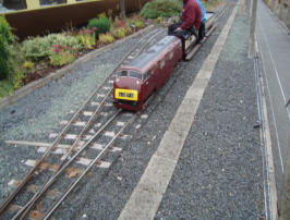 The miniture railway at Kidderminster Station