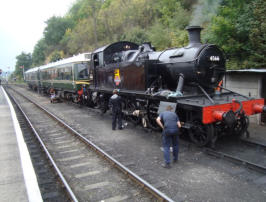Steam loco being worked on at Bewdley